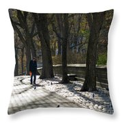 Autumn In New York 2 Throw Pillow