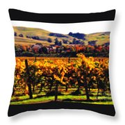 Autumn In The Valley 2 - Digital Painting Throw Pillow