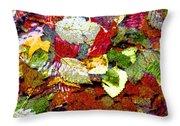 Autumn In Water Throw Pillow