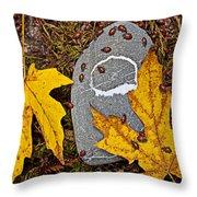 Autumn Ladybugs Throw Pillow