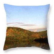 Autumn Lake Panoramic Throw Pillow