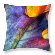 Autumn Leaf Abstract 2 Throw Pillow