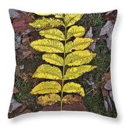 Autumn Leaf Art I Throw Pillow