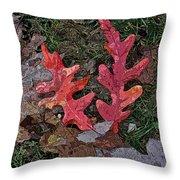 Autumn Leaf Art IIi Throw Pillow