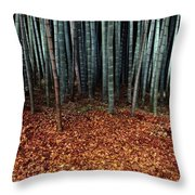 Autumn Leaves Litter The Ground Throw Pillow