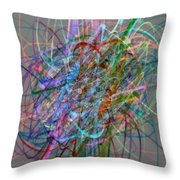 Autumn Likes Lines Throw Pillow by Michelle Calkins