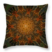 Autumn Mandala 6 Throw Pillow