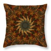 Autumn Mandala 7 Throw Pillow