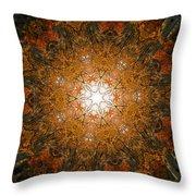 Autumn Mandala 8 Throw Pillow