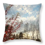 Autumn Maple And Sky Throw Pillow