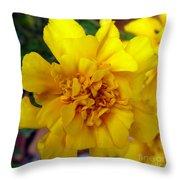 Autumn Marigold 2 Throw Pillow