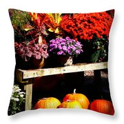 Autumn Market Throw Pillow