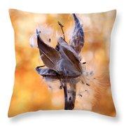 Autumn Milkweeds Throw Pillow
