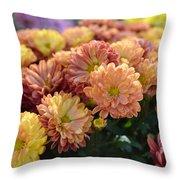 Autumn Mums Throw Pillow