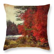 Autumn Of Yesteryear Throw Pillow