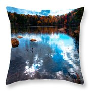 Autumn On Cary Lake Throw Pillow