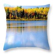 Autumn On Chena Lake L Throw Pillow