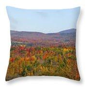 Autumn Panorama Brome Quebec Canada Throw Pillow
