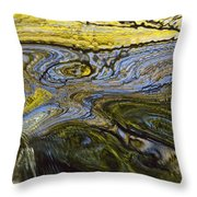 Autumn Patterns In Small Waterfall Throw Pillow