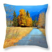 Autumn Perspective Throw Pillow