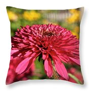 Autumn Pink Throw Pillow