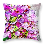 Autumn Purple II Throw Pillow
