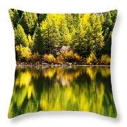 Autumn Reflection In Georgetown Lake Colorado Throw Pillow