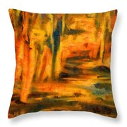Autumn Reflection In The Water Throw Pillow