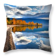 Autumn Reflections In October Throw Pillow