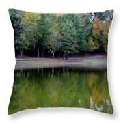 Autumn Reflections Upon Dark Waters Throw Pillow