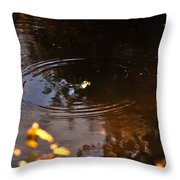 Autumn Rings Throw Pillow