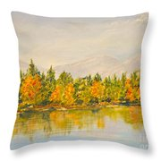 Beyond The Hills Throw Pillow