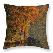 Autumn Scenic Throw Pillow