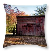Autumn Shed Throw Pillow