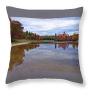 Autumn Shoreline Throw Pillow