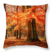 autumn skirt I Throw Pillow