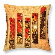 Autumn Sunrise Painterly Abstract Throw Pillow