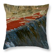 Autumn Waterfall Reflections Throw Pillow