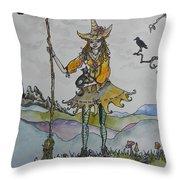 Autumn Witch Throw Pillow