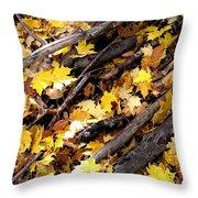 Autumnal Melody Throw Pillow