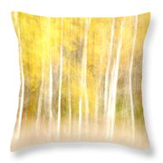 Autumns Abstract Throw Pillow