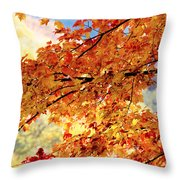 Autumns Gold Great Smoky Mountains Throw Pillow by Rich Franco