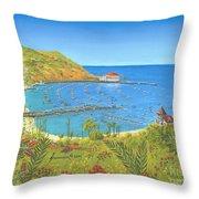 Avalon Catalina Island Throw Pillow