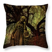 Ave Maria Full Of Sorrows Throw Pillow