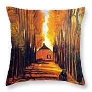 Avenue At Poplars Throw Pillow