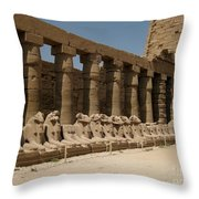 Avenue Of The Sphinx Throw Pillow