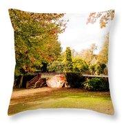 Avery Hill Rose Garden Throw Pillow