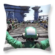 Aviation Boatswain's Mate Signals Throw Pillow