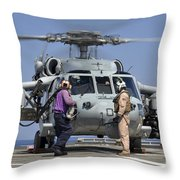 Aviation Boatswain's Mates Run Throw Pillow