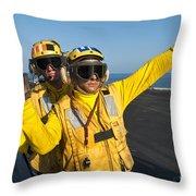 Aviation Boatswain Mates Direct An Throw Pillow